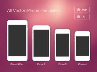 Minimal iPhone Templates (PSD & Vector)