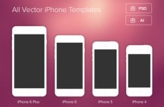 Minimal iPhone Templates (PSD & Vector)