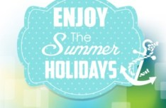 Fresh Enjoy Summer Holiday Design Vector