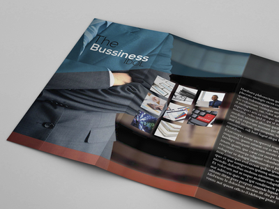 Tri-Fold Business Brochure Template Vector
