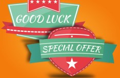 Vintage Good Luck & Special Offer Badges Vector
