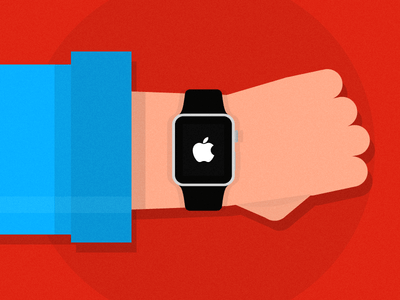 Apple Watch Flat Vector Illustration