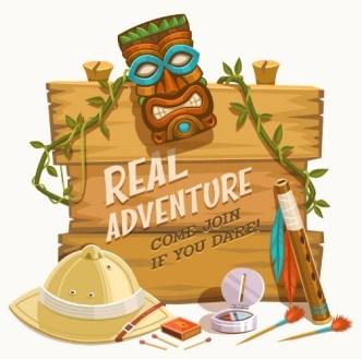 Real Adventure Recruitment Vector Illustration