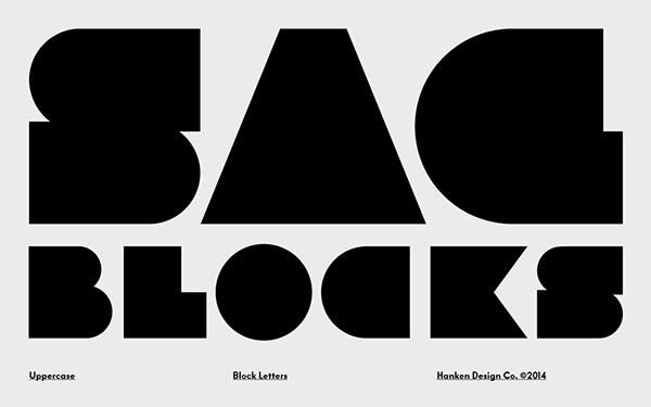 SAG Block Font