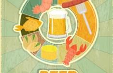 Vintage Beer Menu Template Vector