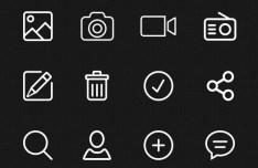 80+ line Icons PSD
