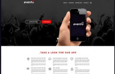 Evento Landing Page Template PSD