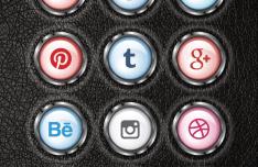 12 Social Media 3D Icons Vector