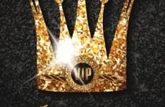 Royal Crown Invitation Card Template Vector