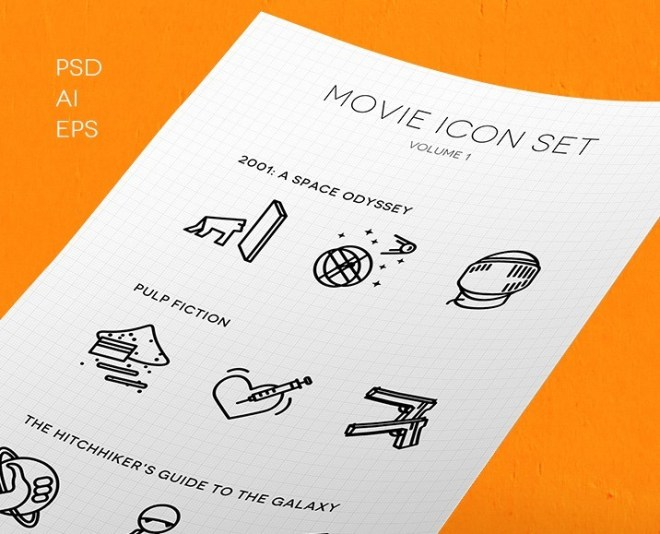 Awesome Movie Icon Set (PSD+Vector)