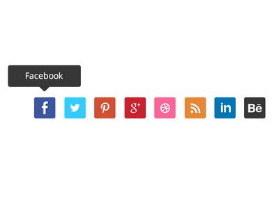 Social Media Free Flat Icons PSD