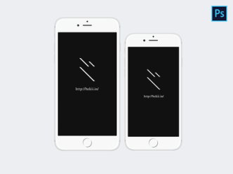 iPhone 6 & iPhone 6 Plus Mockups White
