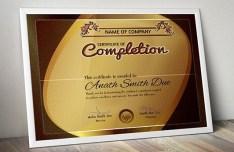 Certificate Frame PSD