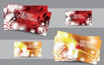 Elegant Merry Christmas Card Set 01