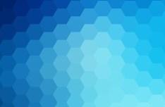 Seamless Blue Hexagon Background Vector