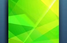 Green Polygon Brochure Design Vector
