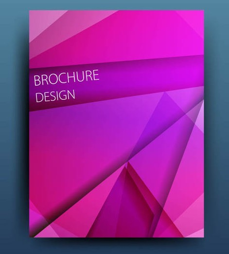 Pink Polygon Brochure Design Vector