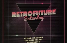 RetroFuture Flyer & Poster Template PSD