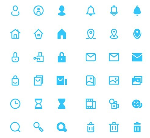 100+ Vector Shaped UI Icons