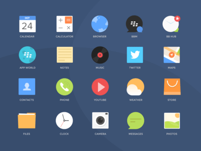Blackberry Icons PSD