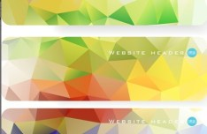 Colorful Polygon Banner Template Set 01