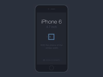 iPhone 6 Line Mockup PSD