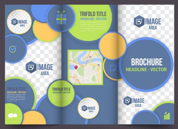 Business Tri-fold Brochure Template Vector