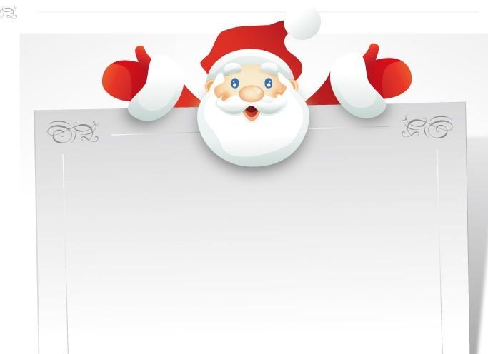 Free Cartoon Santa Claus Frame Vector - TitanUI