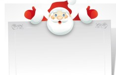 Cartoon Santa Claus Frame Vector