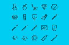 20 Dental Icons (PSD+Vector)