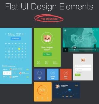 Flat UI Design Elements PSD