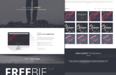 Spirit8 - Digital Agency One Page Web Template PSD