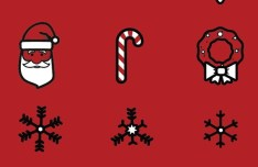 21 Christmas Icons Vector