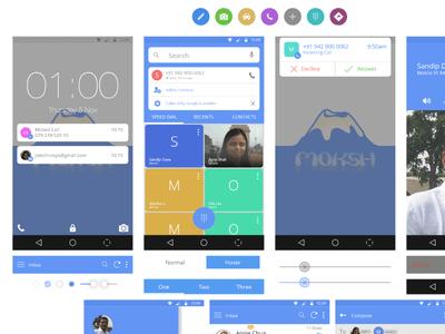 Google Lollipop Gui Kit PSD