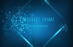 Abstract Blue Frame Background Vector