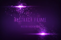 Abstract Purple Frame Background Vector