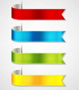 Glossy Ribbon Vector Set 03