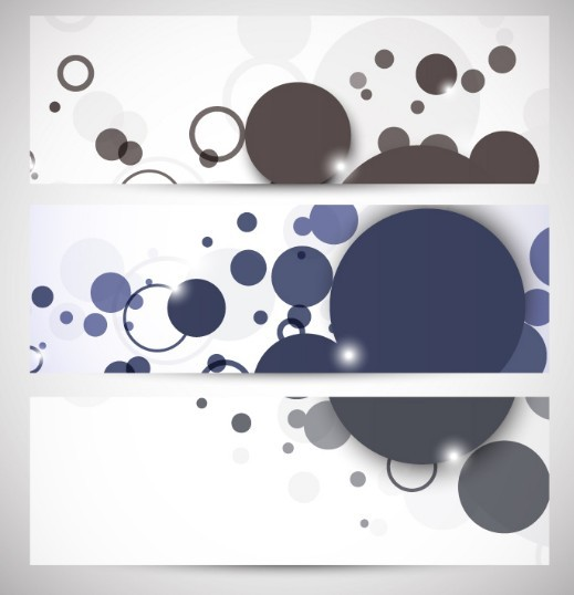 Elegant Circles Banner Set Vector