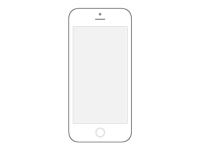 Transparent IPhone 6 Wireframe PSD