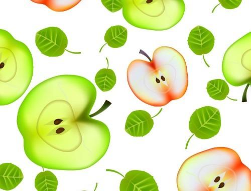 Creative Apples Background Vector