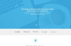 Atom - Simple Clean Landing Page Template PSD