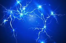 Blue Lightning Background Vector 01