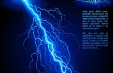 Blue Lightning Background Vector 02
