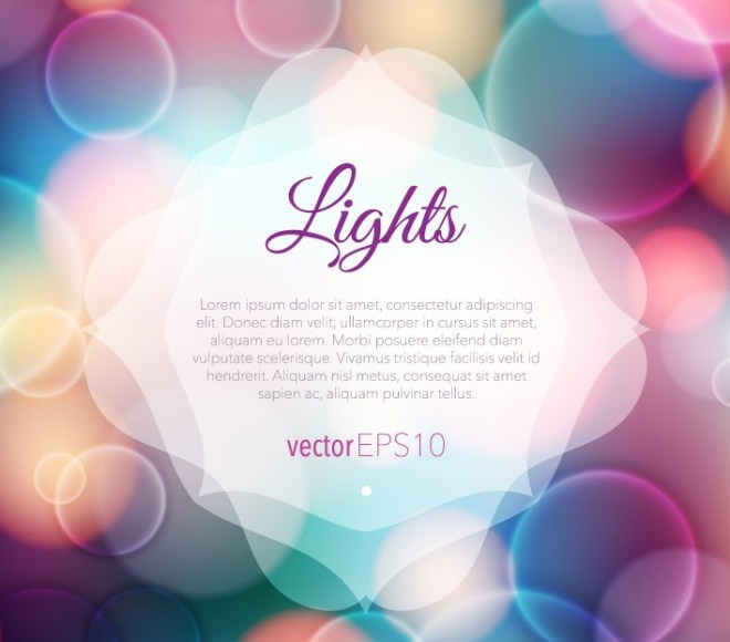 Colorful Lights Bokeh Effect Background Vector