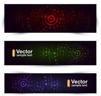 Abstract Circles Banner Set Vector