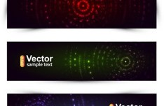 Abstract Circles Banner Set Vector