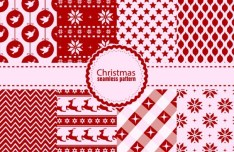 Seamless Christmas Pattern Set Vector