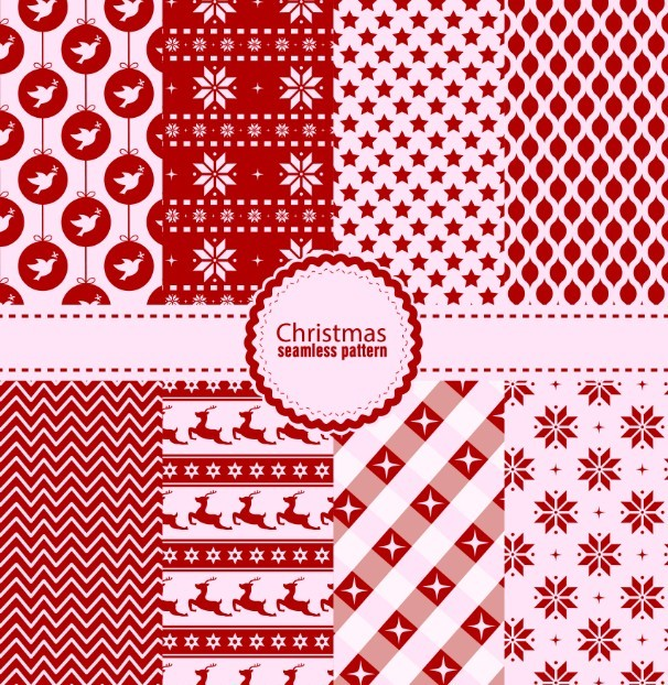 Seamless Christmas Pattern Set Vector