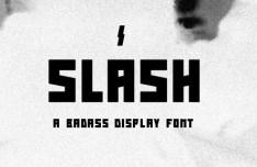 Slash Display Font