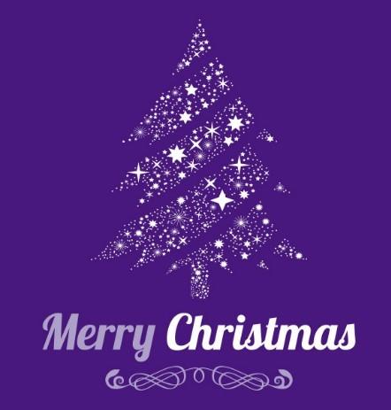 Christmas Tree Of Stars Vector